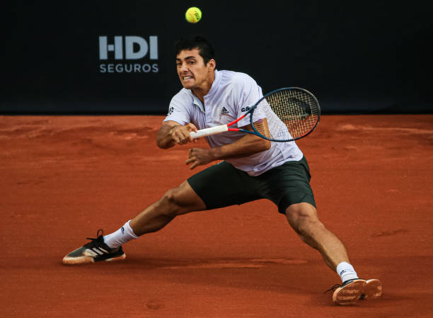 Cristian Garin in action ahead of the Rome Masters