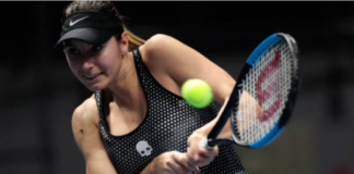 Oceane Dodin at the Lyon Open