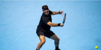 Roger Federer at the 2019 ATP Finals