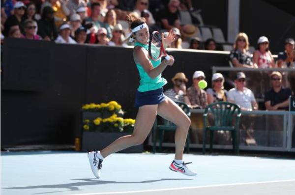 Caroline Garcia at the Lyon Open