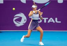 Kristina Mladenovic at the Lyon Open