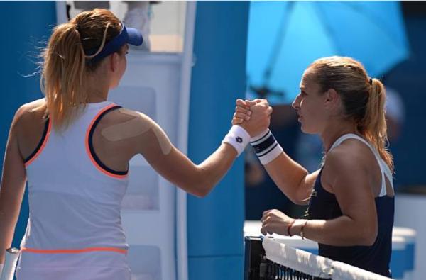 Agnieszka Radwanska defeated at the 2014 Australian Open