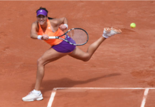 Garbine Muguruza at the 2014 French Open