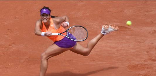 Garbine Muguruza at the 2014 French Open