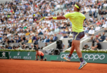 Rafael Nadal in action at Roland Garros