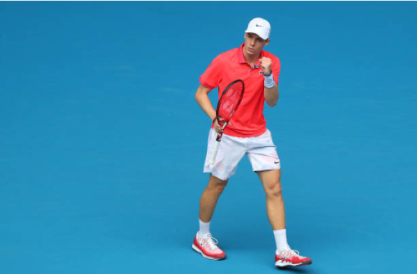 Denis Shapovalov in action at the Australian Open