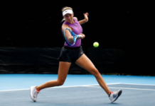 WTA young gun Amanda Anisimova in action