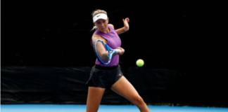 WTA young gun Amanda Anisimova in action