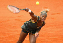 Serena Williams in action during one of the five best women's Grand Slam finals of the 2000s