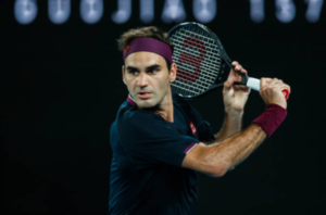 Roger Federer in action at the 2020 Australian Open
