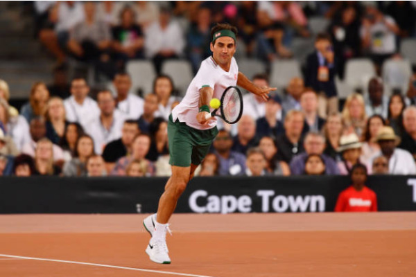 Roger Federer in action during the Match for Africa