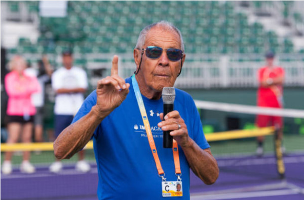 Nick Bollettieri, founder of the Nick Bollettieri Tennis Academy