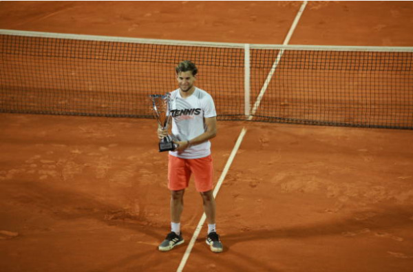 Dominic Thiem with the Adria Tour trophy