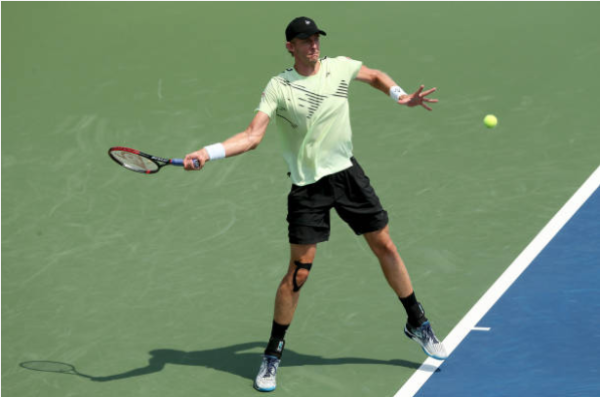 Kevin Anderson in action at the Cincinnati Masters