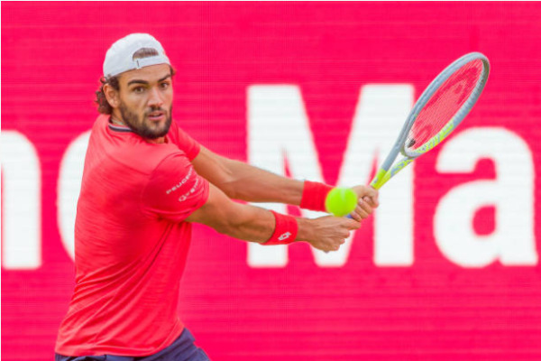Matteo Berrettini in action ahead of the Cincinnati Masters