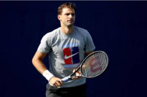 Grigor Dimitrov prepares for the Cincinnati Masters