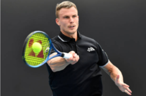 Marton Fucsovics in action ahead of the Cincinnati Masters