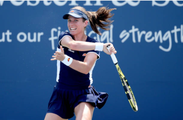 Johanna Konta in action at the WTA Cincinnati Masters