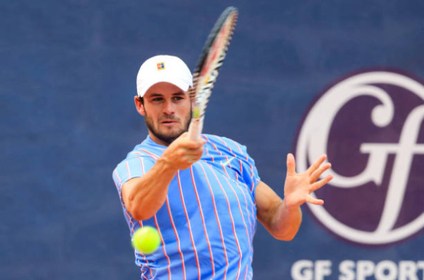 Tommy Paul in action at the Cincinnati Masters