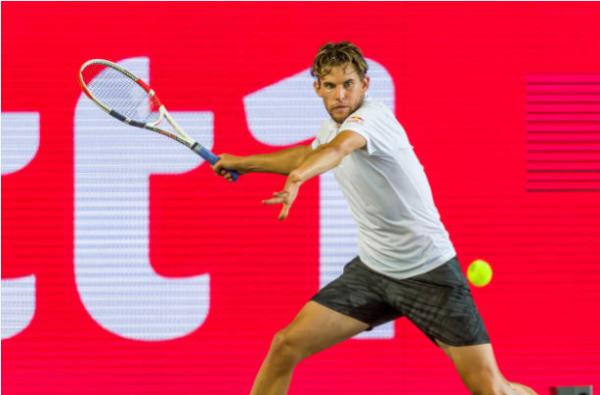 Dominic Thiem in action ahead of the Cincinnati Masters