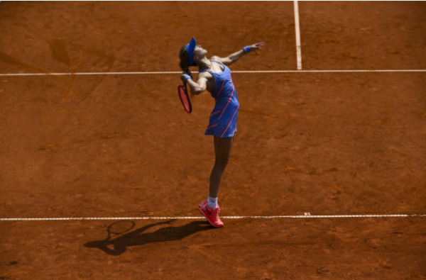 Eugenie Bouchard in action ahead of the French Open