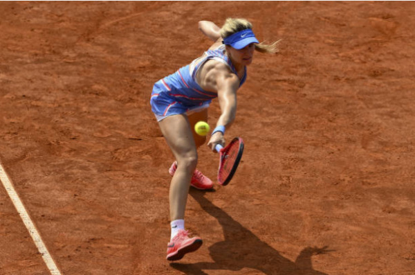 Eugenie Bouchard in action ahead of the WTA Istanbul Cup