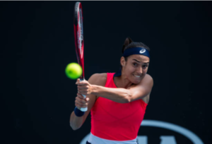 Caroline Garcia in action ahead of the WTA Istanbul Cup