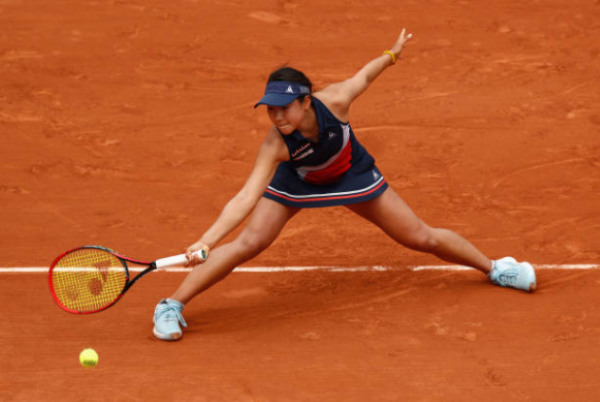 Nao Hibino in action at the French Open