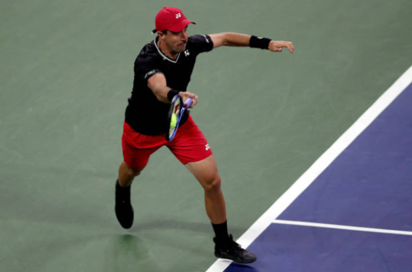 Steve Johnson in action at the US Open