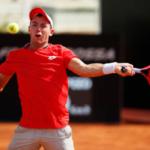 Dominik Koepfer in action ahead of the ATP Hamburg Open