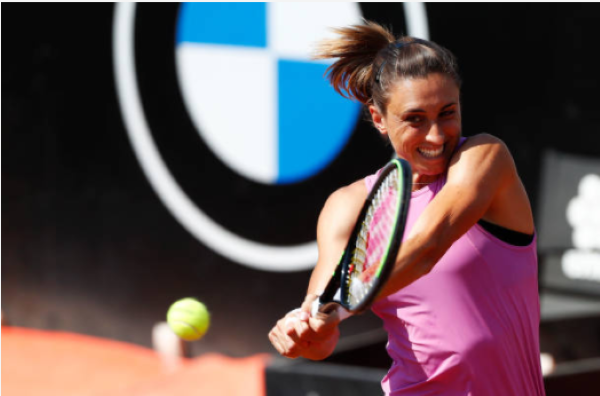 Petra Martic in action ahead of the French Open