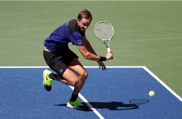 Daniil Medvedev in action at the US Open