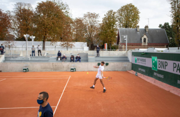 Men's defending champion training ahead of the French Open