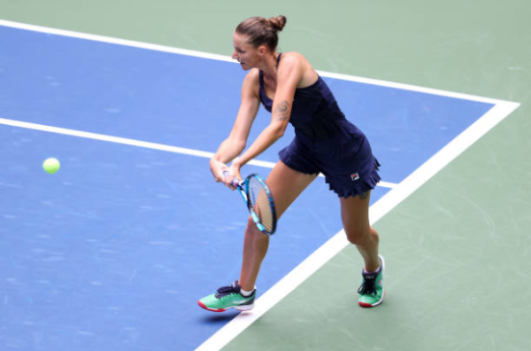 Karolina Pliskova in action at the US Open