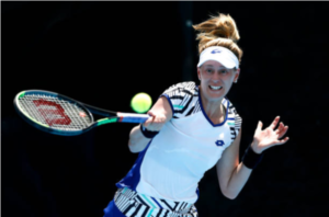 Alison Riske in action ahead of the WTA Italian Open