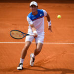 Casper Ruud in action ahead of the ATP Rome Masters