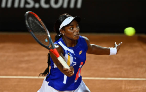 Sloane Stephens in action ahead of the WTA Strasbourg International