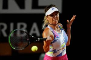 Elina Svitolina in action at the WTA Italian Open