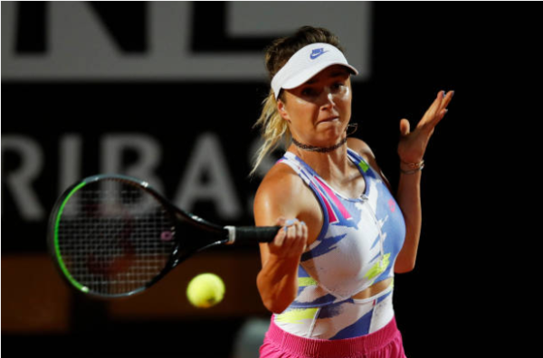 Elina Svitolina in action at the WTA Italian Open