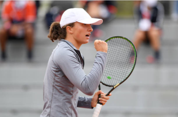 Iga Swiatek at the 2020 French Open