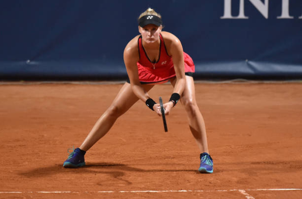 Dayana Yastremska in action ahead of the WTA Italian Open