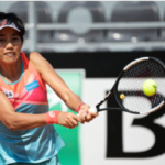 Zhang Shuai in action ahead of the WTA Strasbourg International