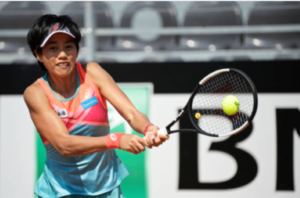 Zhang Shuai in action ahead of the WTA Strasbourg International