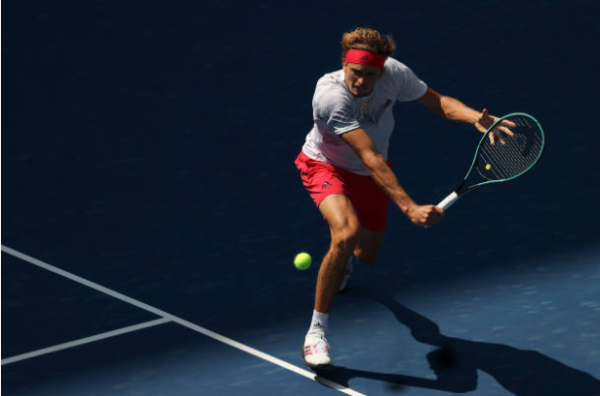 Alexander Zverev in action at the US Open