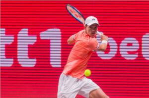 Daniel Altmaier in action ahead of the ATP Cologne Championships