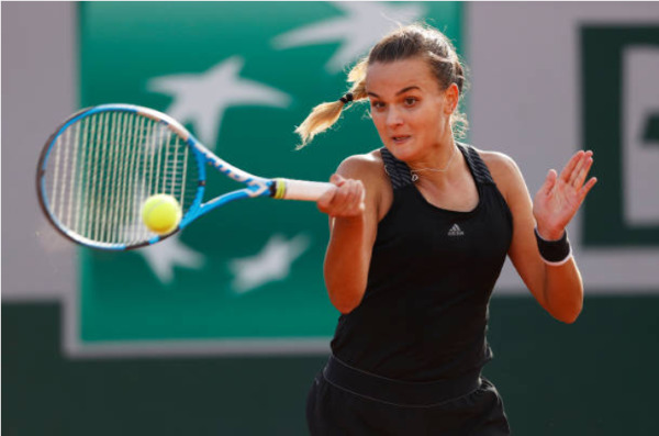 Clara Burel in action at the French Open