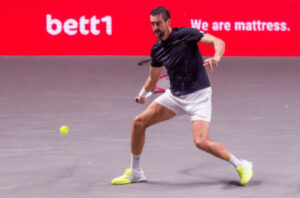 Marin Cilic in action ahead of the ATP Cologne Championships