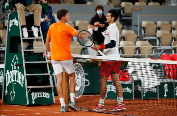Novak Djokovic defeated Pablo Carreno Busta in a four-set thriller in Paris
