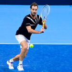 Richard Gasquet in action at the ATP European Open