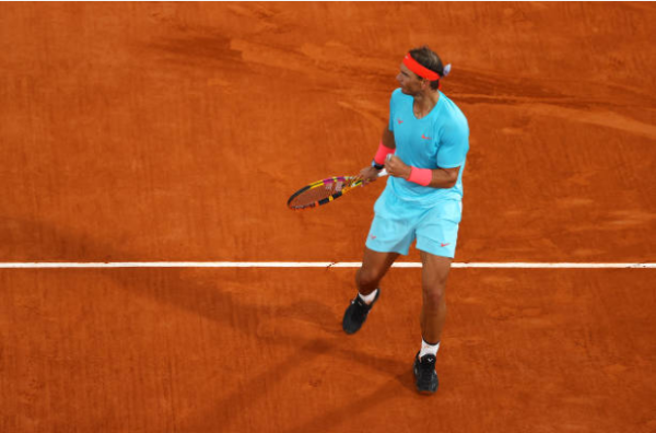 Rafael Nadal triumphant at the French Open